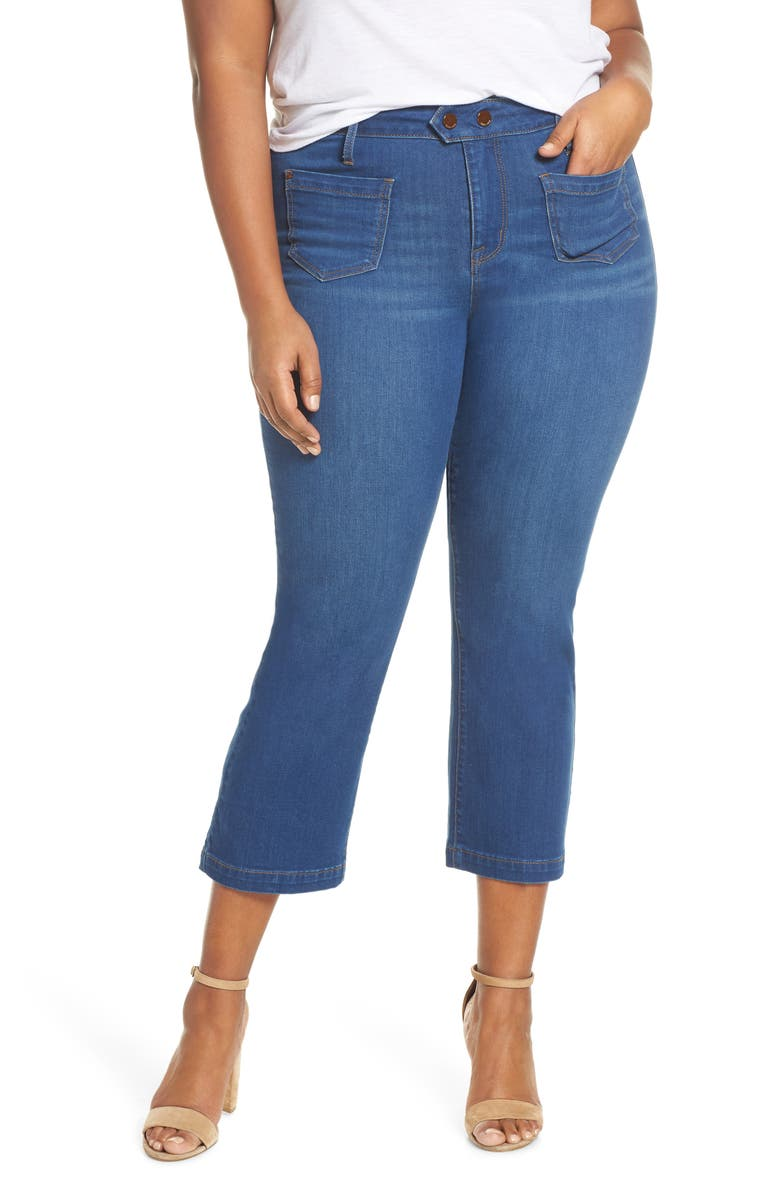 SEVEN7 Bootcut Crop Jeans, Main, color, HARBOR
