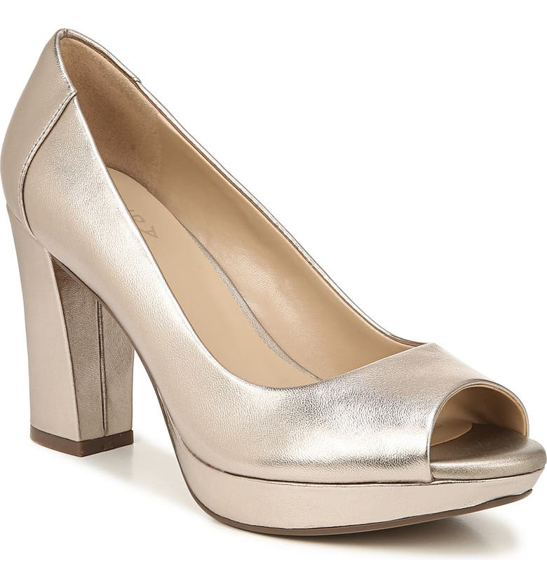NATURALIZER Amie Pump, Main, color, LIGHT BRONZE METALLIC LEATHER