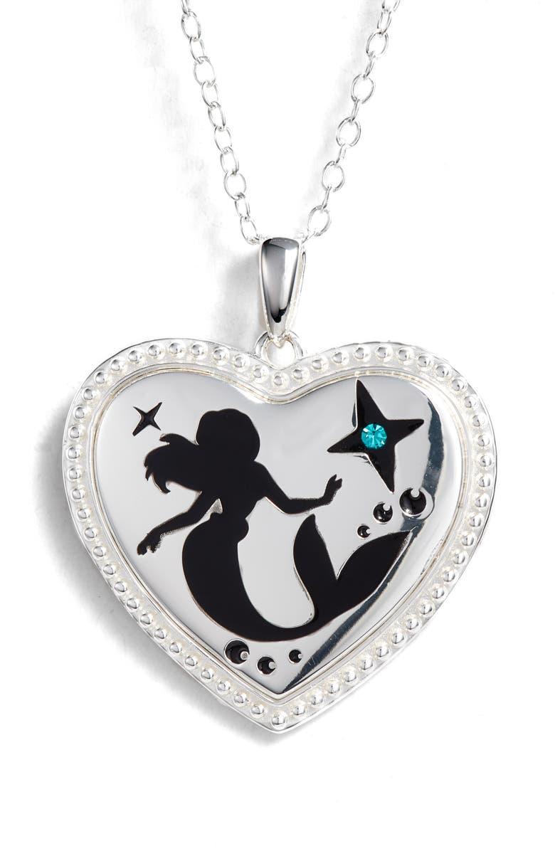 DISNEY Little Mermaid 'Make a Splash' Pendant Necklace, Main, color, 040
