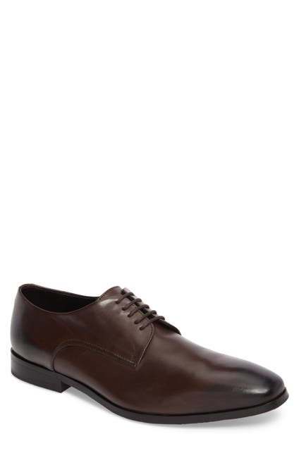 Image of BOSS Plain Toe Leather Derby