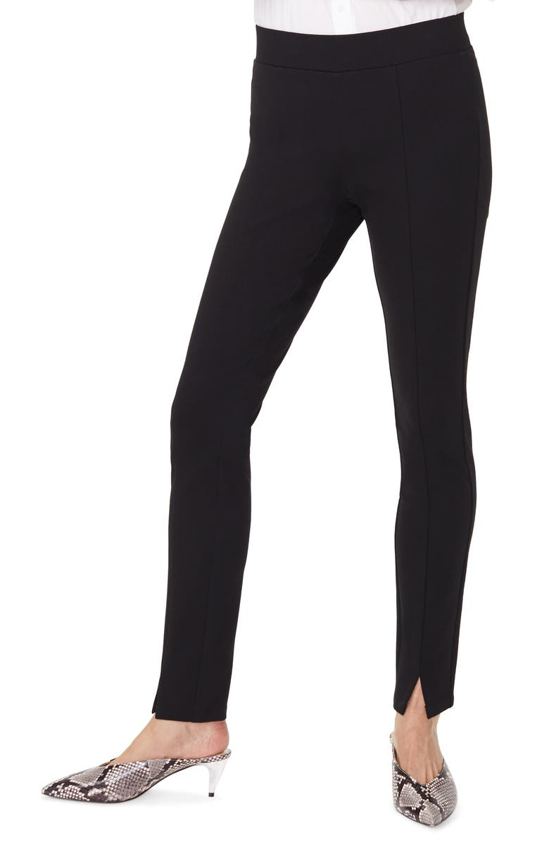 NYDJ Slit Hem Leggings, Main, color, BLACK