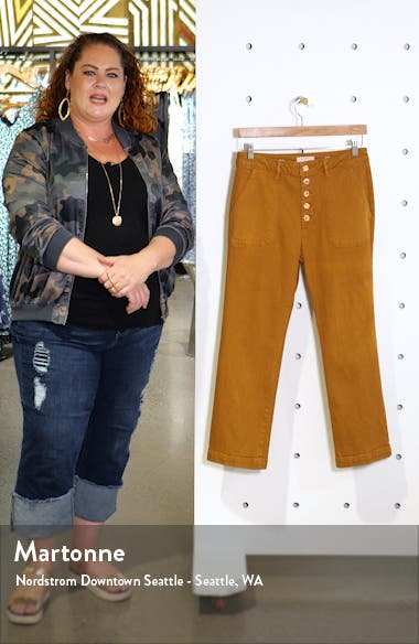 x Marianna Hewitt Jerry High Waist Vintage Crop Straight Leg Jeans, sales video thumbnail
