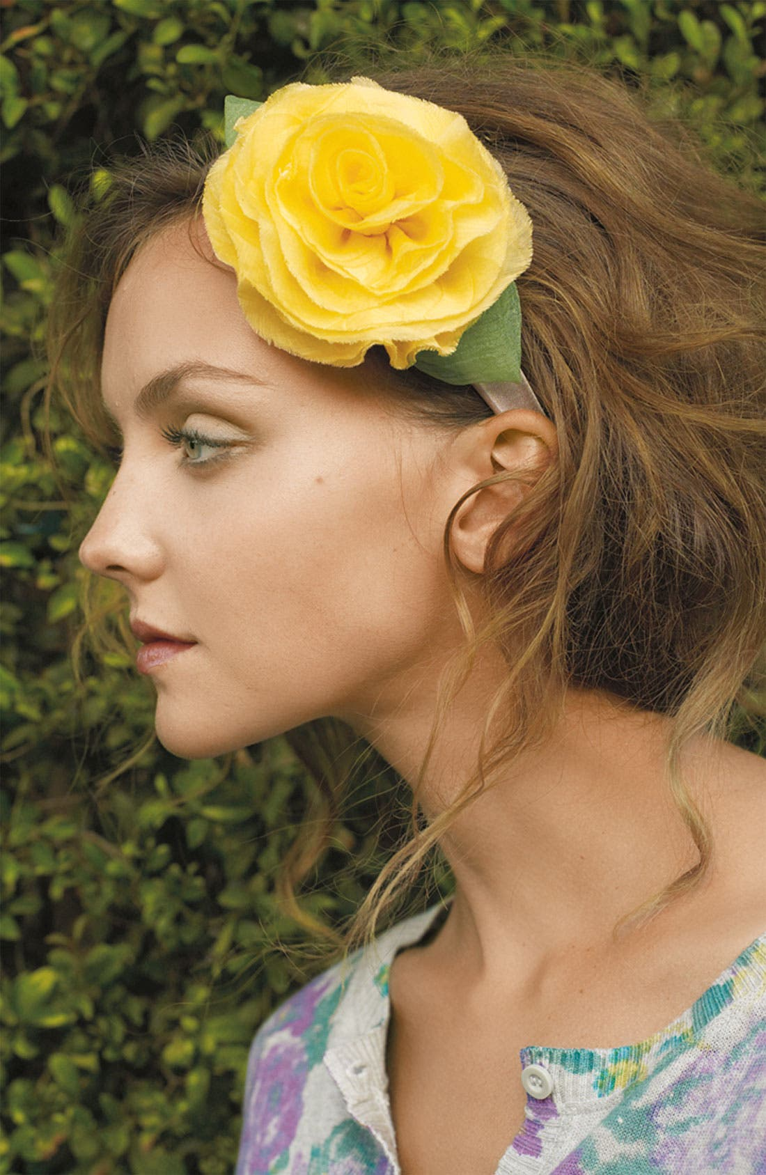 ,                             Floral Headband,                             Alternate thumbnail 3, color,                             020