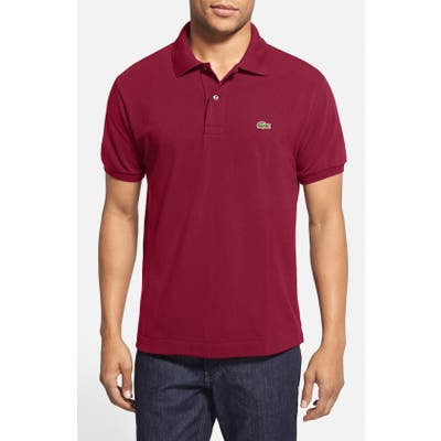 Lacoste L1212 Regular Fit Pique Polo, Burgundy