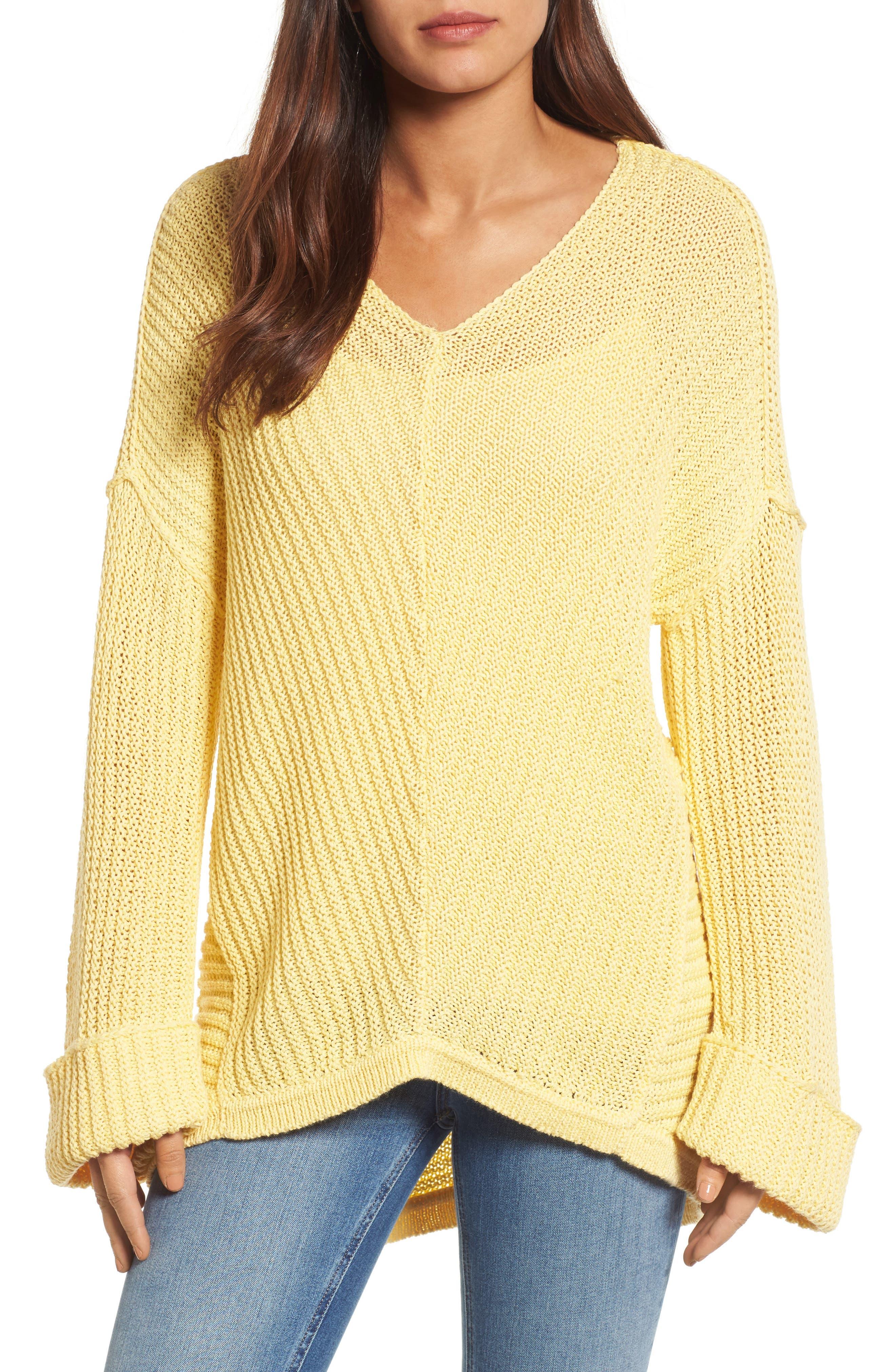 ,                             Cuffed Sleeve Sweater,                             Main thumbnail 37, color,                             740