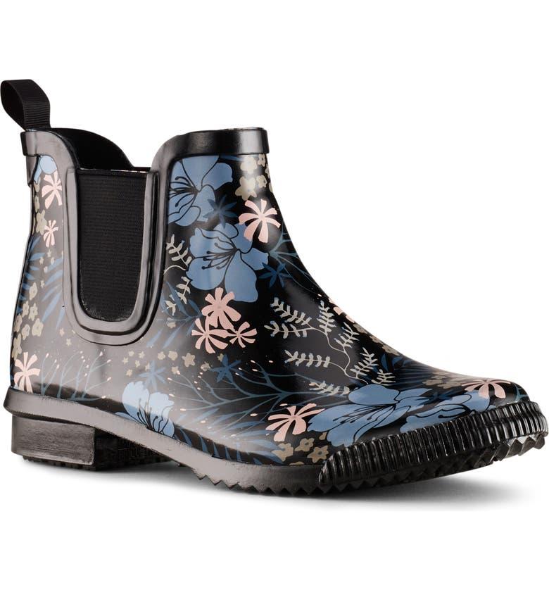 COUGAR Regent Chelsea Waterproof Rain Boot, Main, color, SUMMER FLORAL RUBBER