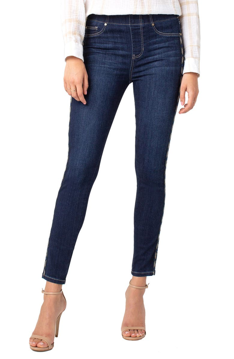 LIVERPOOL Chloe Pull-On Ankle Skinny Jeans, Main, color, 402