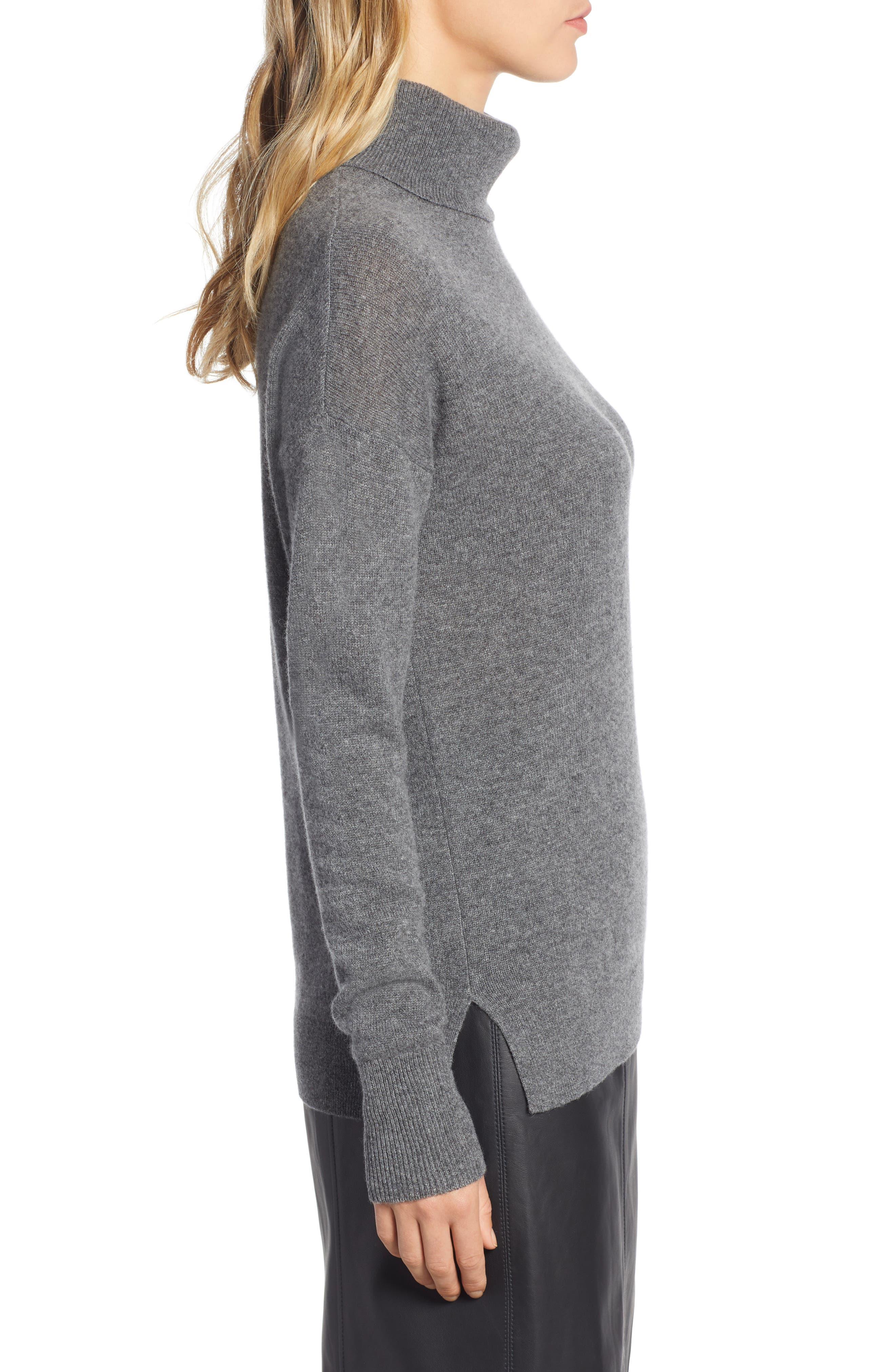 ,                             Cashmere Turtleneck Sweater,                             Alternate thumbnail 15, color,                             030