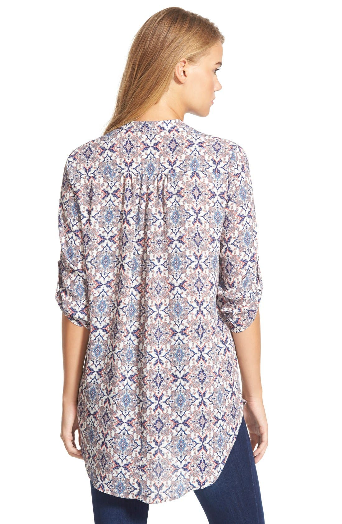 ,                             Perfect Roll Tab Sleeve Tunic,                             Alternate thumbnail 428, color,                             908