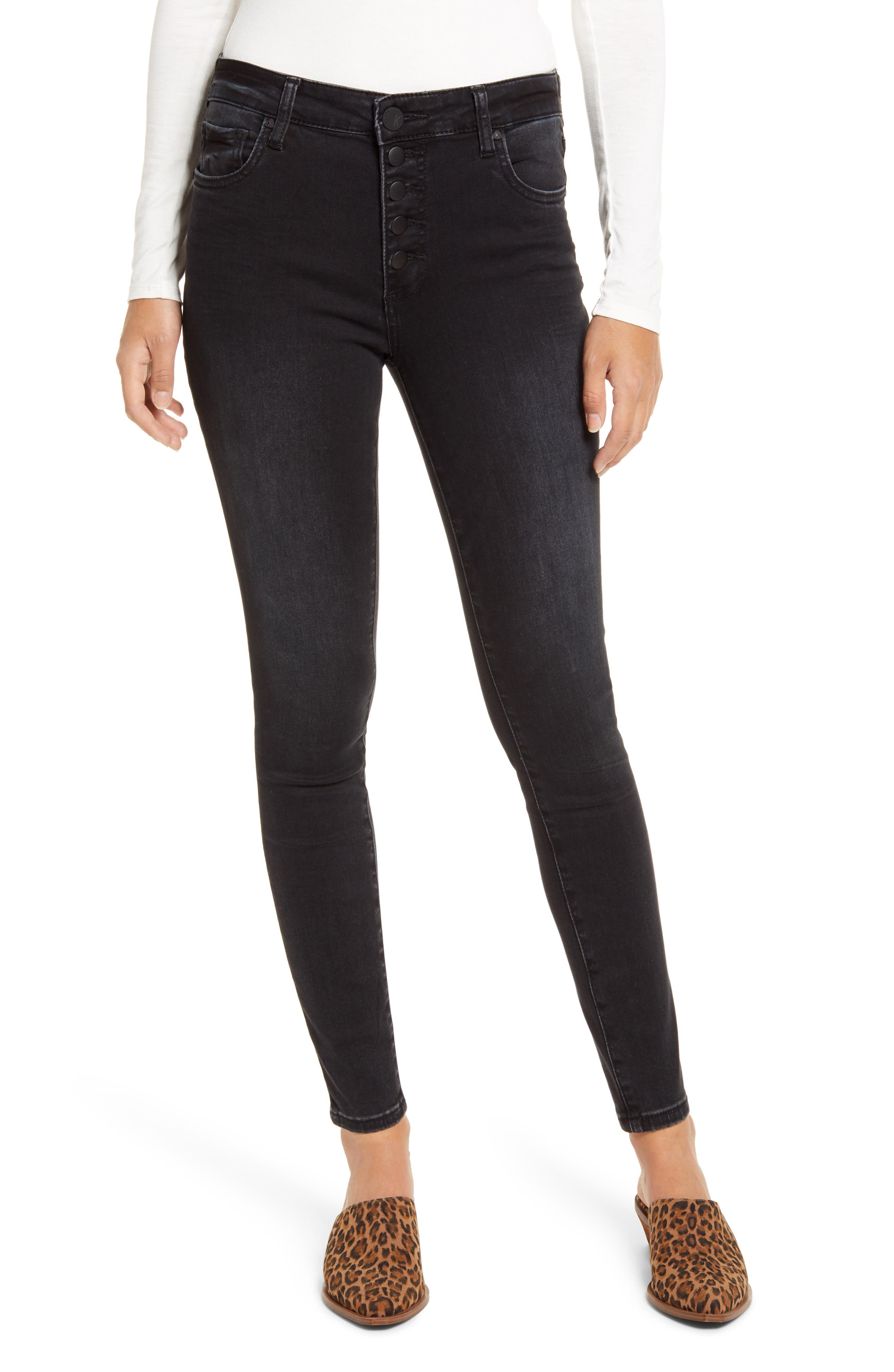 KUT from the Kloth Donna High Waist Button Fly Jeans (Continually)   Nordstrom
