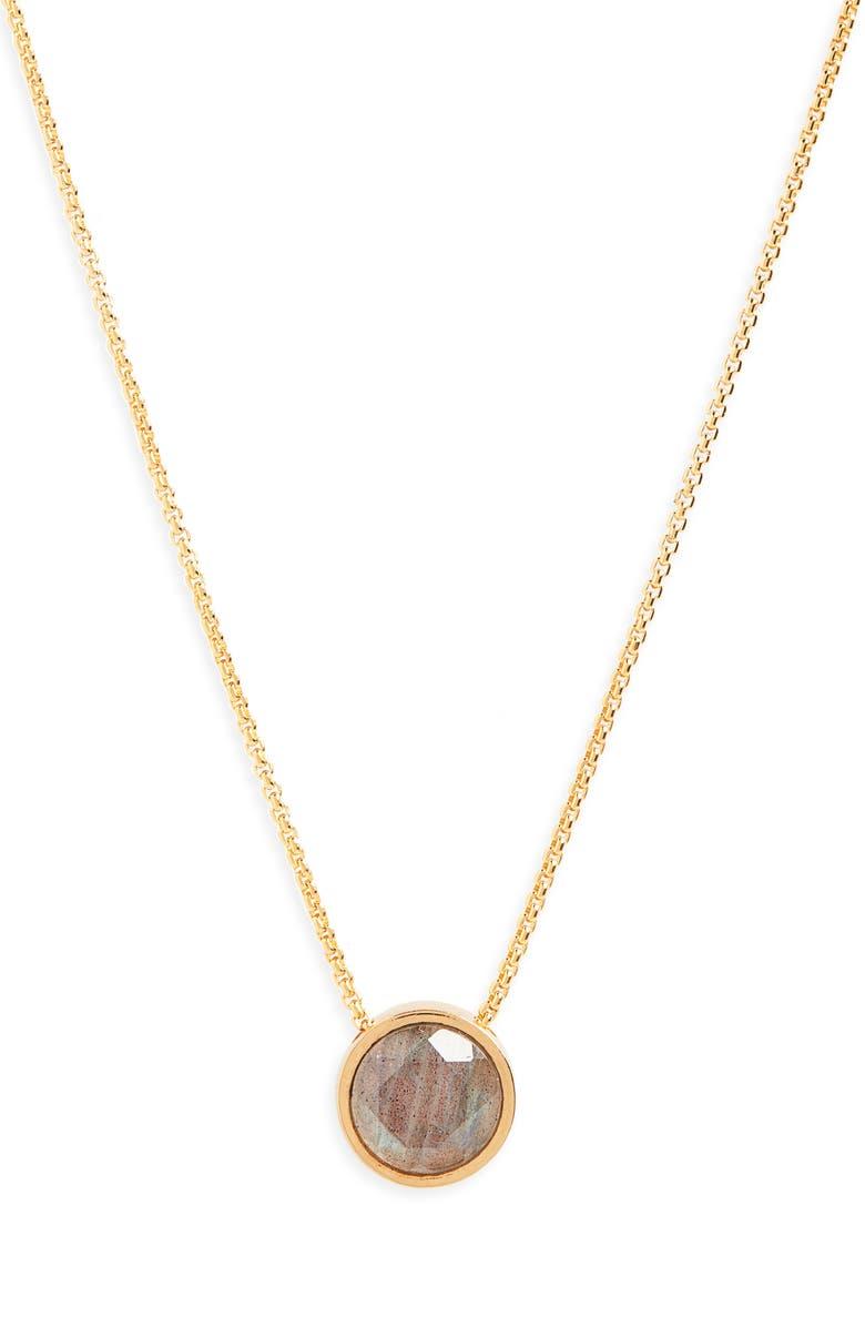 DEAN DAVIDSON Signature Knockout Pendant Necklace, Main, color, LABRADORITE/ GOLD
