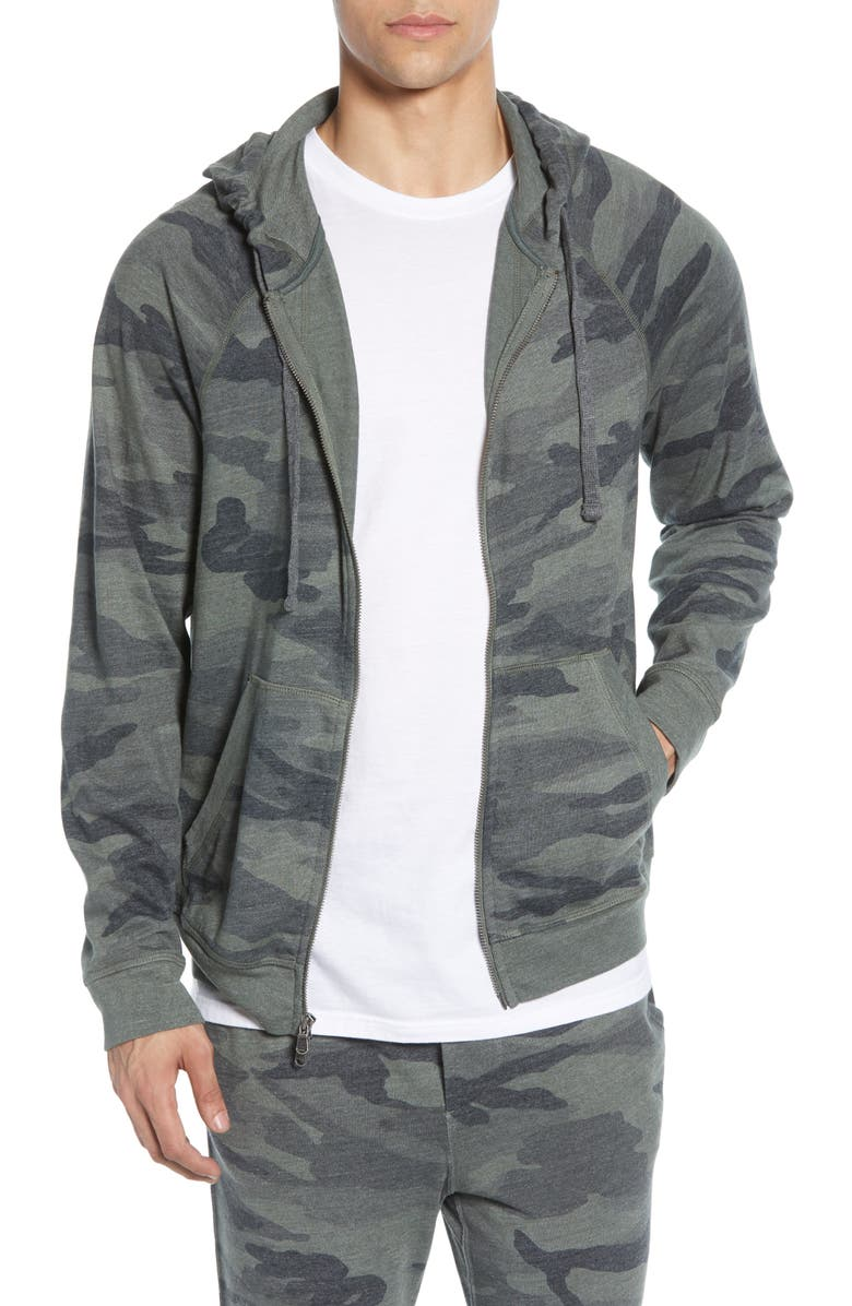 MILLS SUPPLY Sonoma French Terry Hoodie, Main, color, OLIVE BRANCH