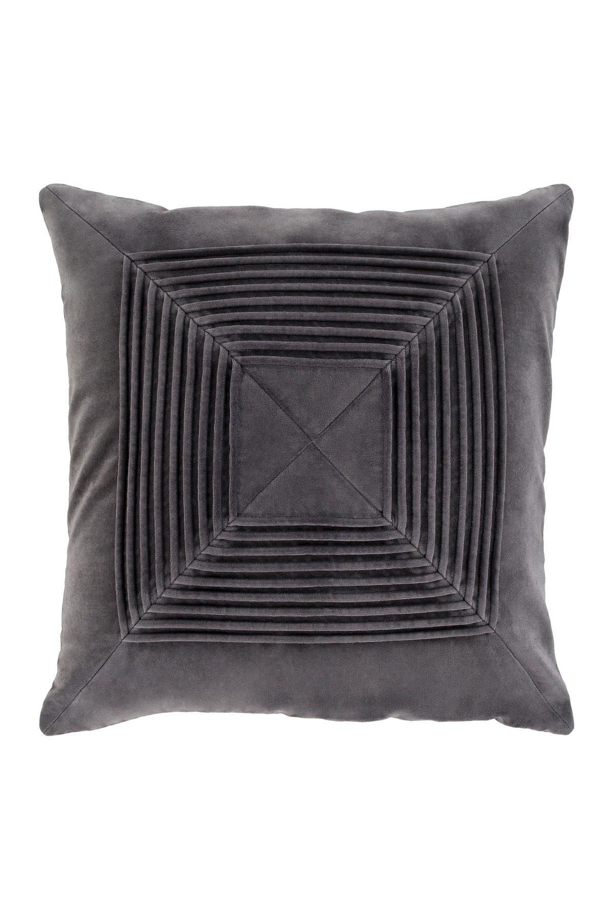 Image of SURYA HOME Charcoal Akira Texture Pillow