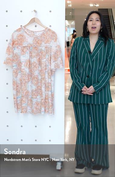 Floral Silk Minidress, sales video thumbnail
