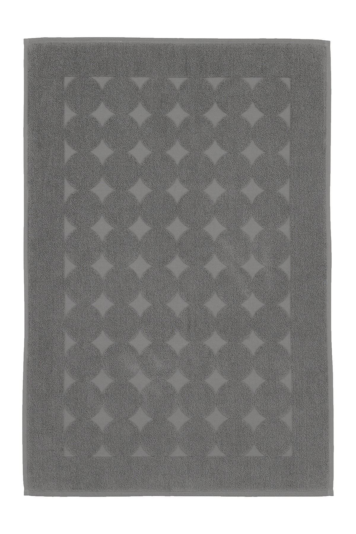 Image of LINUM HOME Sinemis Circle Design Bath Mat - Dark Grey