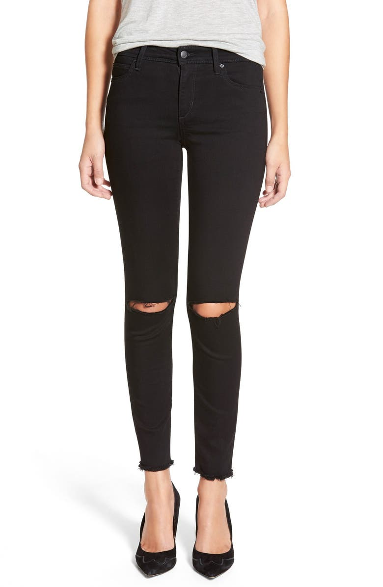 JOE'S 'Flawless - Finn' Destroyed Ankle Skinny Jeans, Main, color, 001