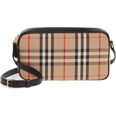 Burberry Vintage Check Crossbody Camera Bag - Beige