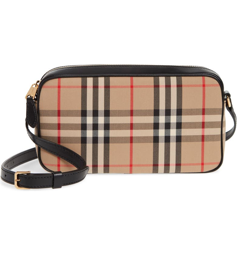 BURBERRY Vintage Check Crossbody Camera Bag, Main, color, ARCHIVE BEIGE