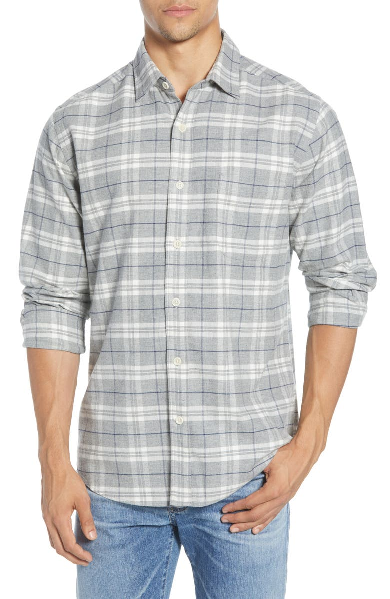 FAHERTY Seaview Flannel Button-Up Shirt, Main, color, GLACIER LAKE PLAID