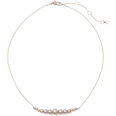 Kate Spade New York Modern Imitation Pearl Frontal Necklace