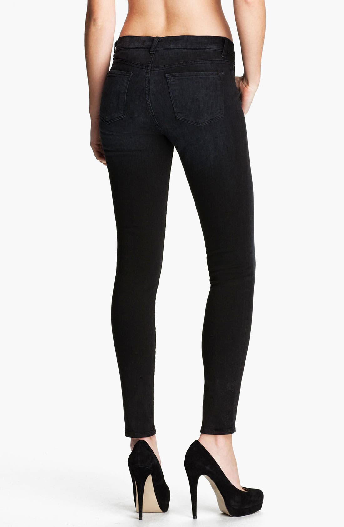 ,                             Skinny Stretch Ankle Jeans,                             Alternate thumbnail 5, color,                             002