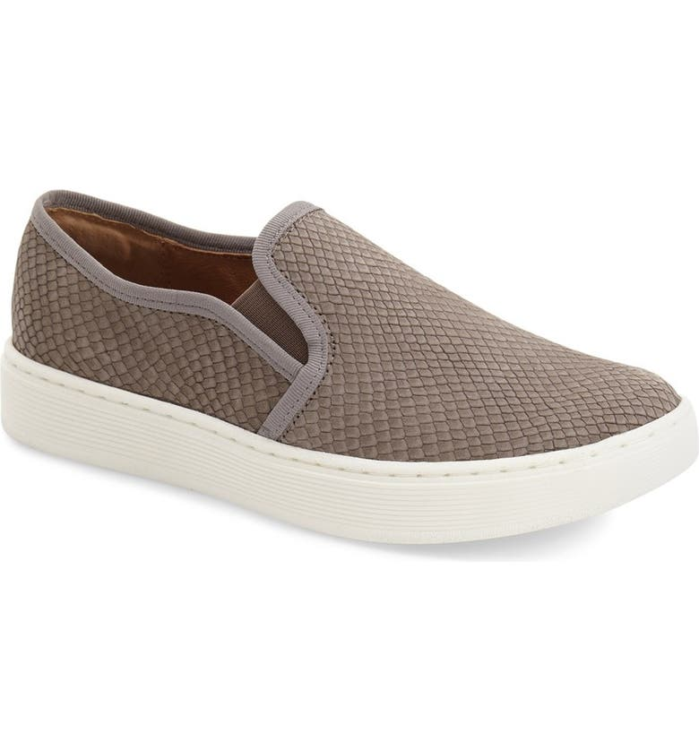 SÖFFT 'Somers' Slip-On Sneaker, Main, color, SNARE GREY SNAKE PRINT LEATHER