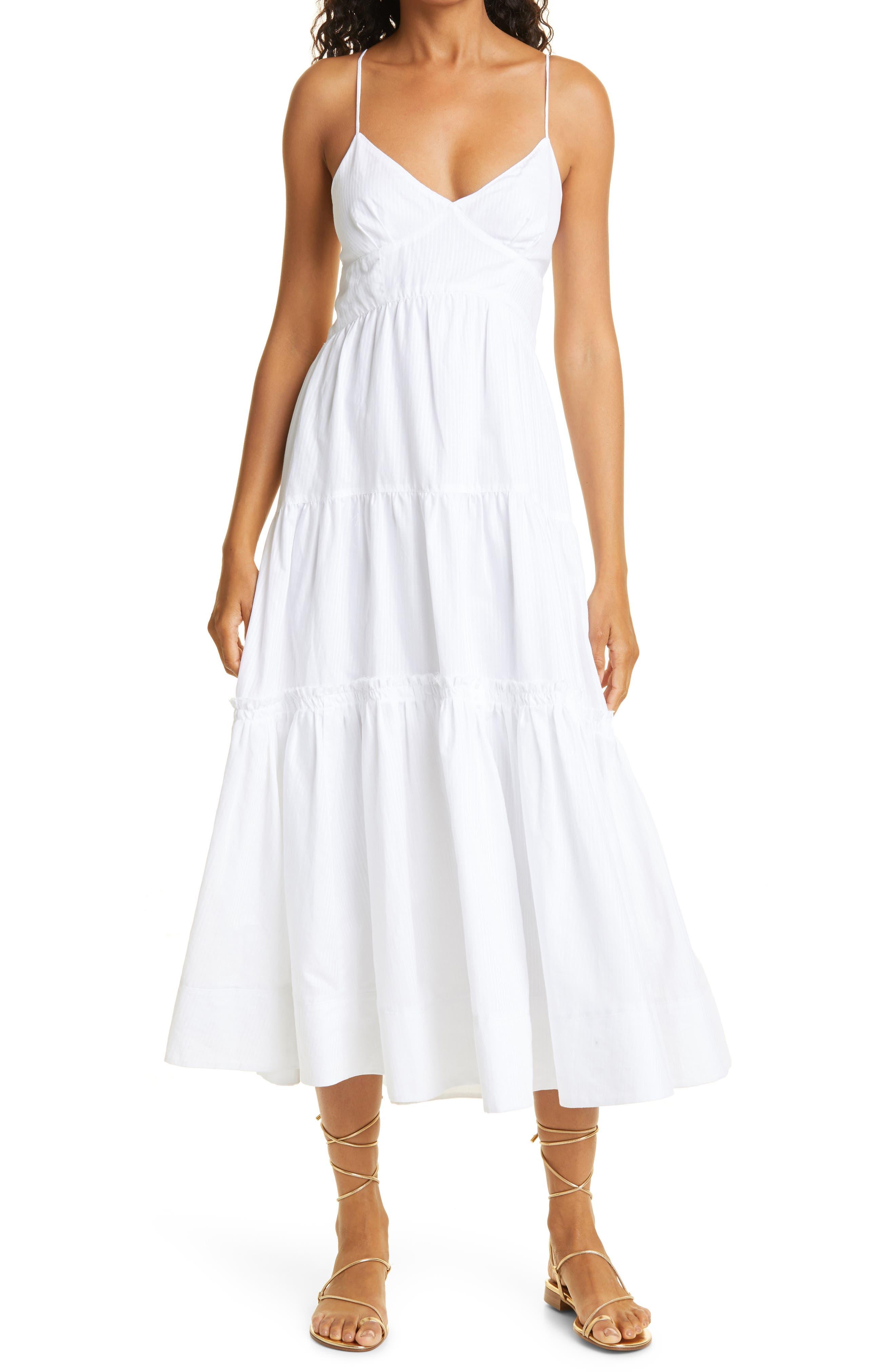 Sleeveless Cotton Linen Tiered Maxi Dress