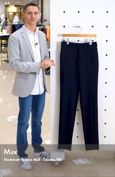 Parker Flat Front Plaid Wool Dress Pants, sales video thumbnail