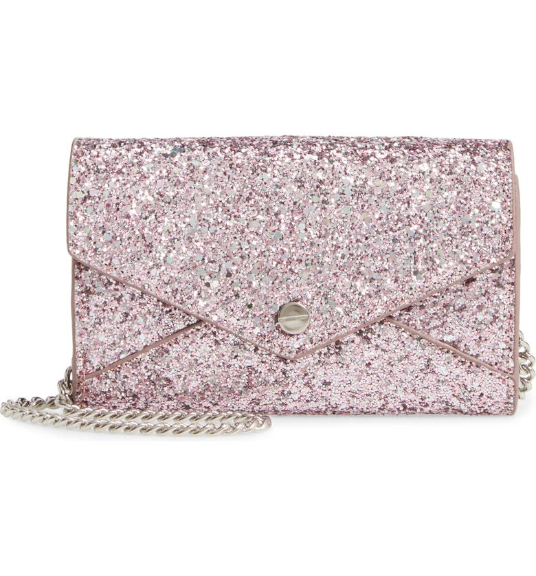 MALI + LILI Josie Glitter Crossbody Bag, Main, color, BLUSH