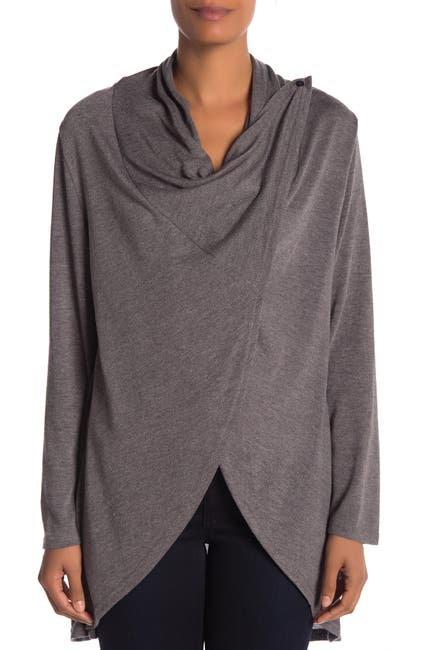 Image of Papillon Open Front Draped Cardigan