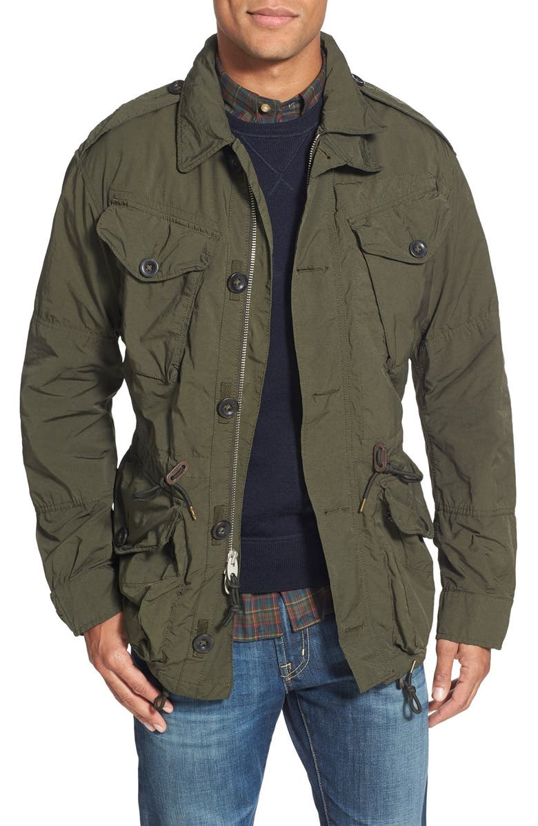 günstig bekannte Marke Modestil Polo Ralph Lauren Twill Combat Military Jacket | Nordstrom