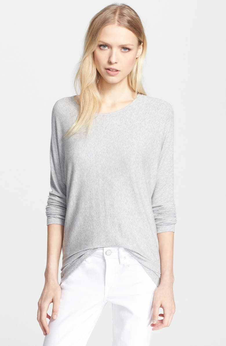 VINCE 'Basic Luxe' Lightweight Long Sleeve Tee, Main, color, 058