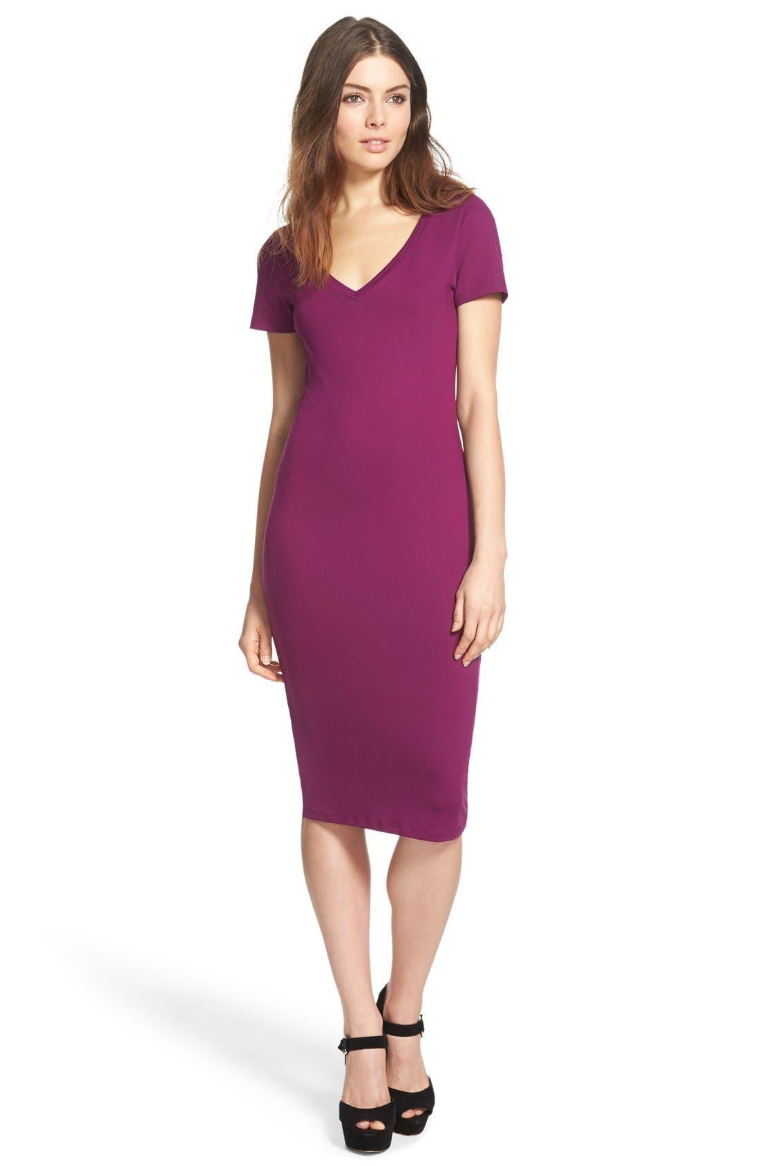 ,                             V-Neck Body-Con Dress,                             Main thumbnail 20, color,                             515