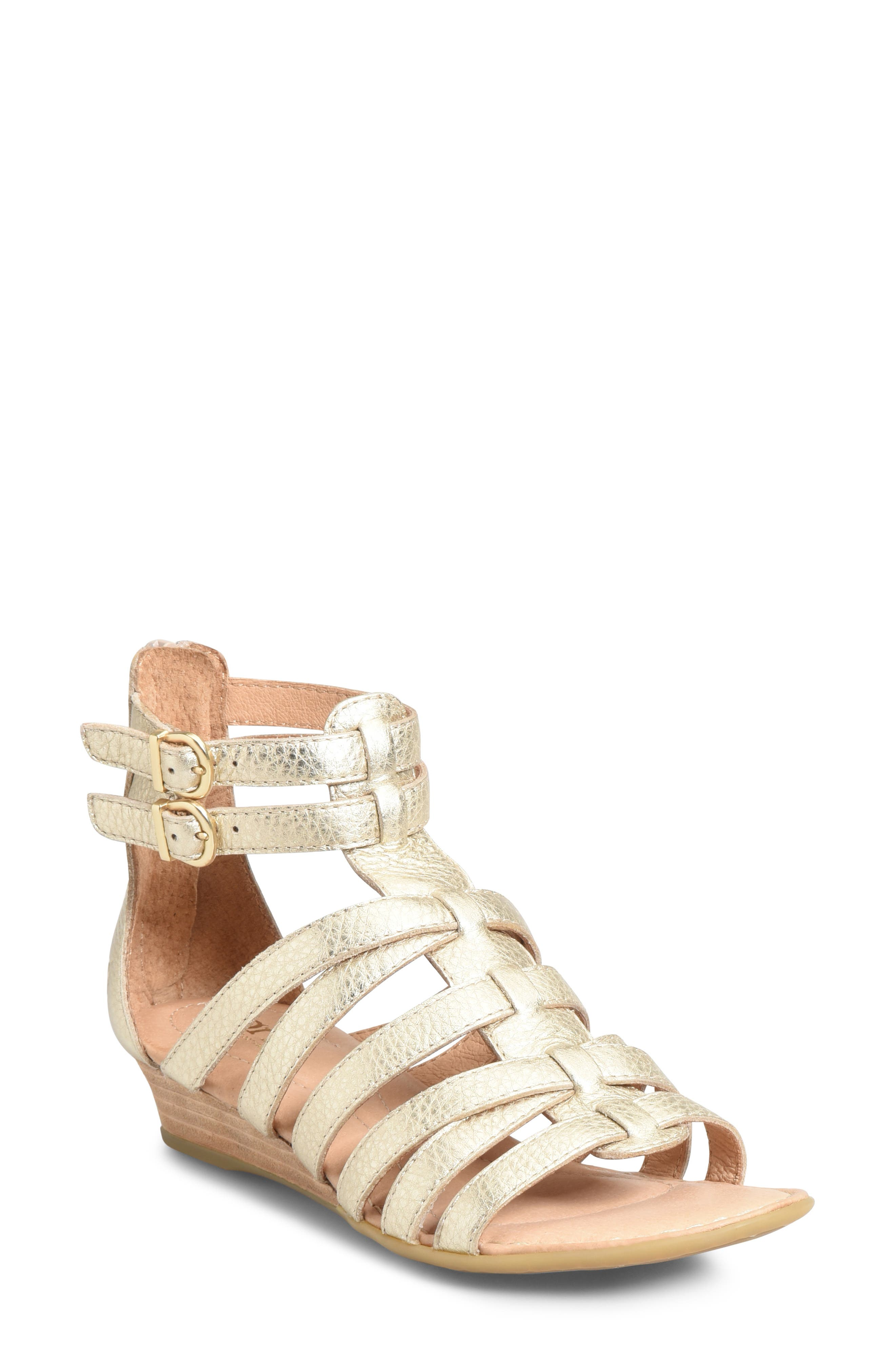 B?rn Challis Gladiator Sandal, Metallic