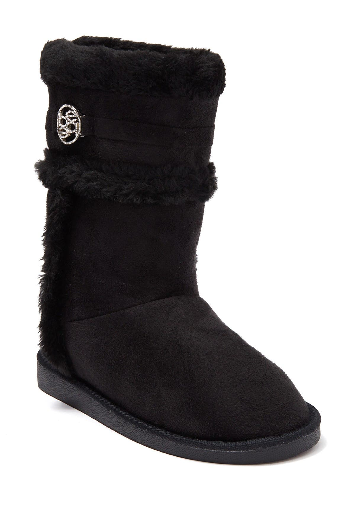 Bebe Tall Faux Fur Embellished Boot