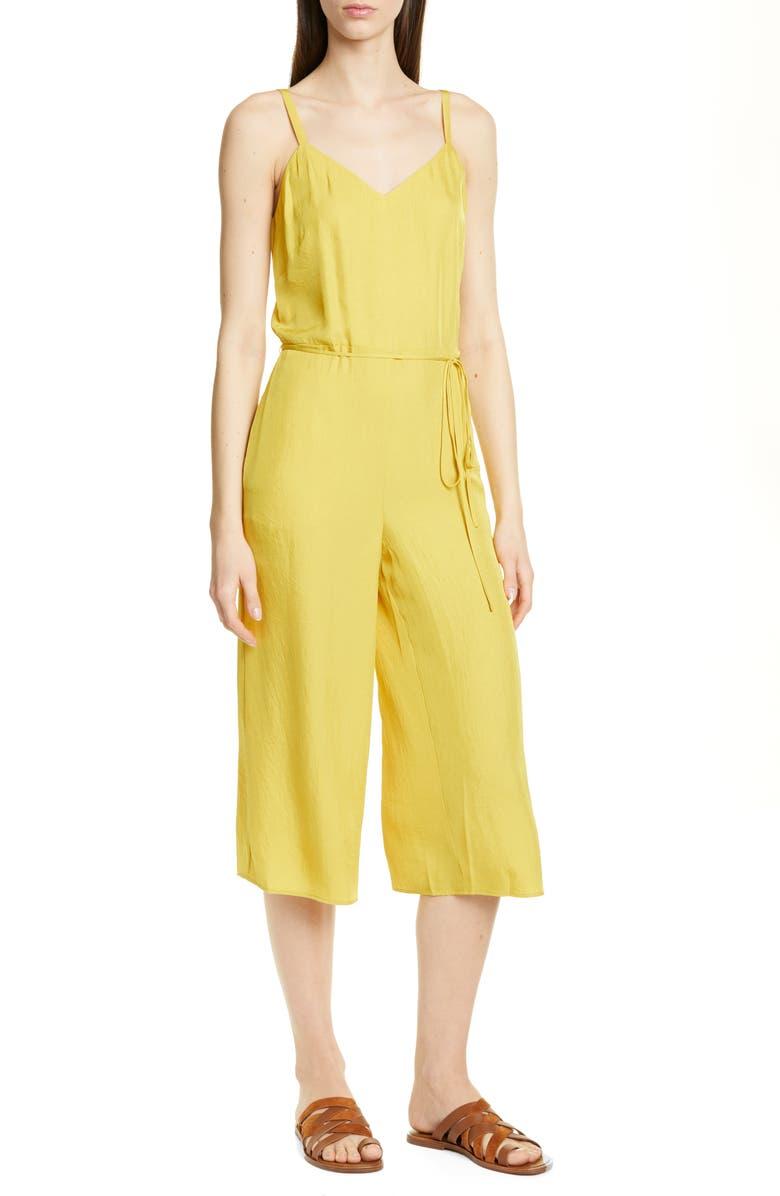 VINCE Cami Wide Leg Crop Jumpsuit, Main, color, LIMONATA