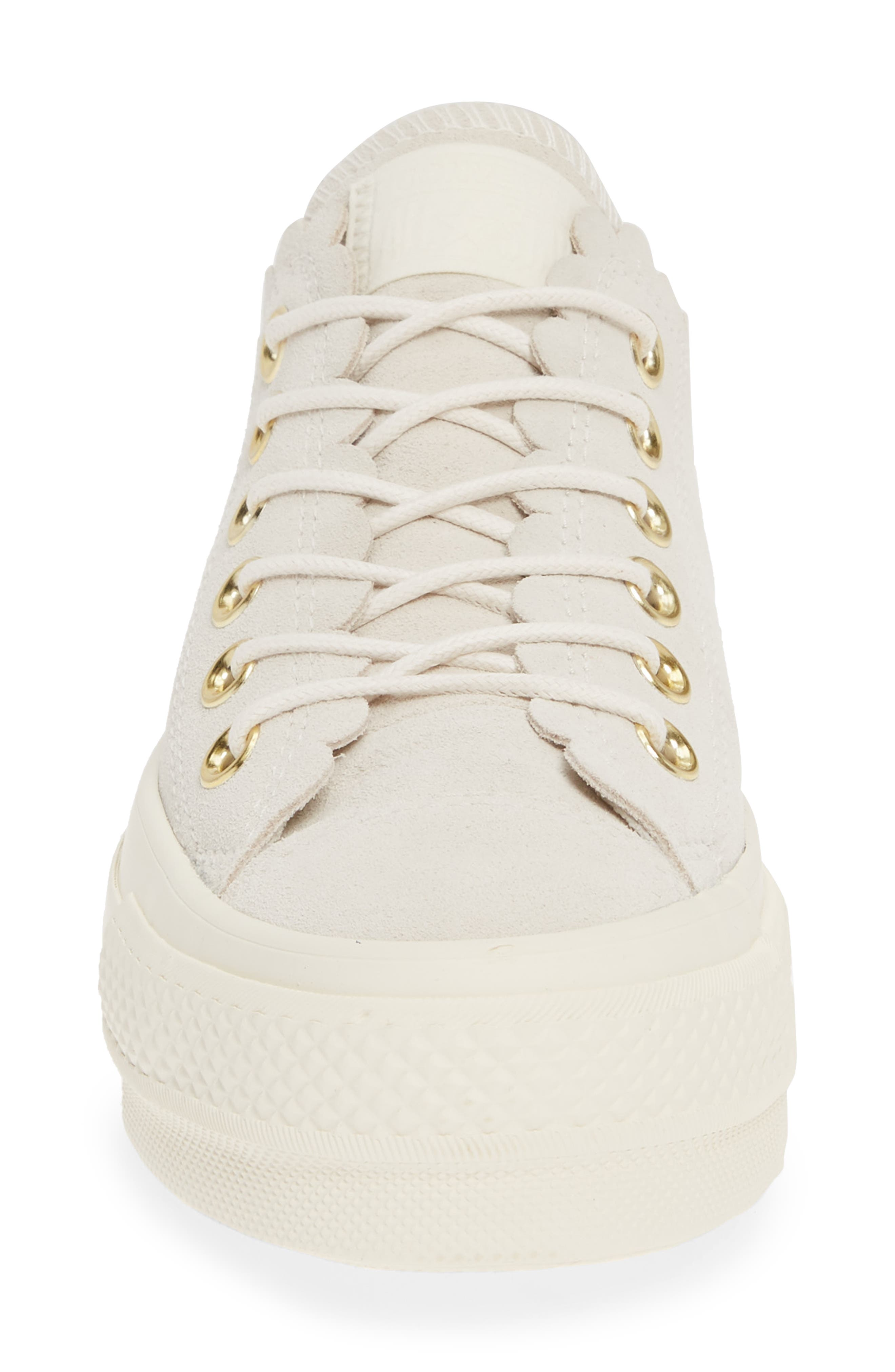 ,                             Chuck Taylor<sup>®</sup> All Star<sup>®</sup> Frilly Scallop Platform Sneaker,                             Alternate thumbnail 4, color,                             020
