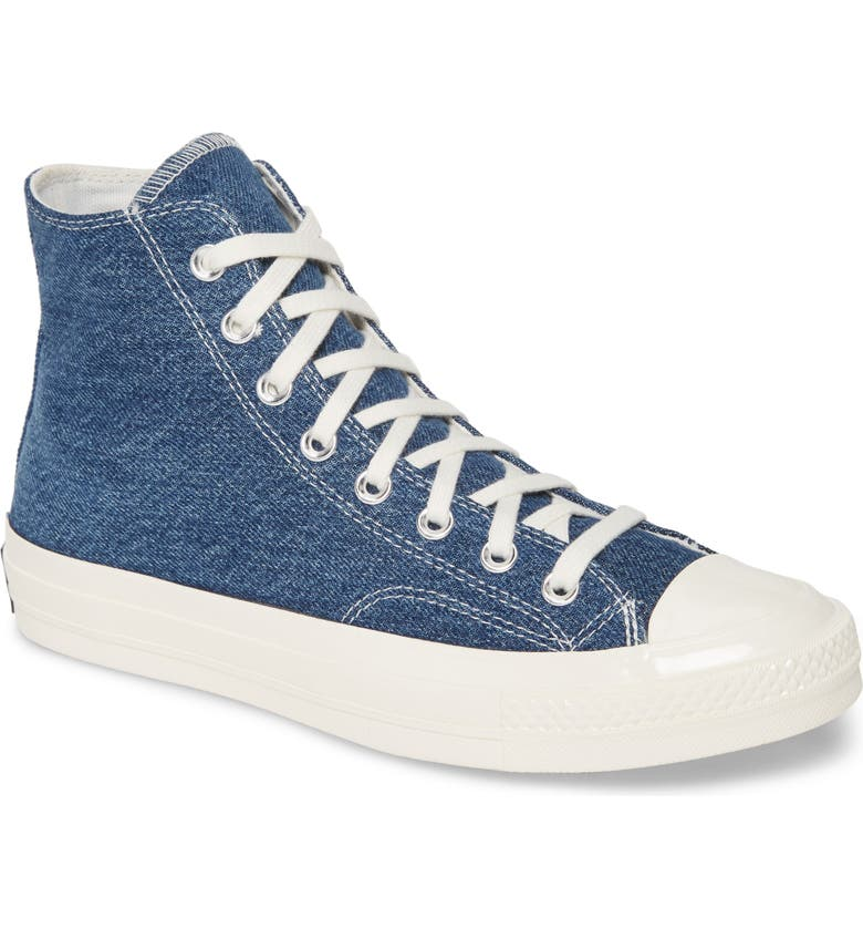 CONVERSE Chuck Taylor<sup>®</sup> All Star<sup>®</sup> Renew 70 High Top Sneaker, Main, color, DARK DENIM/ EGRET/ EGRET