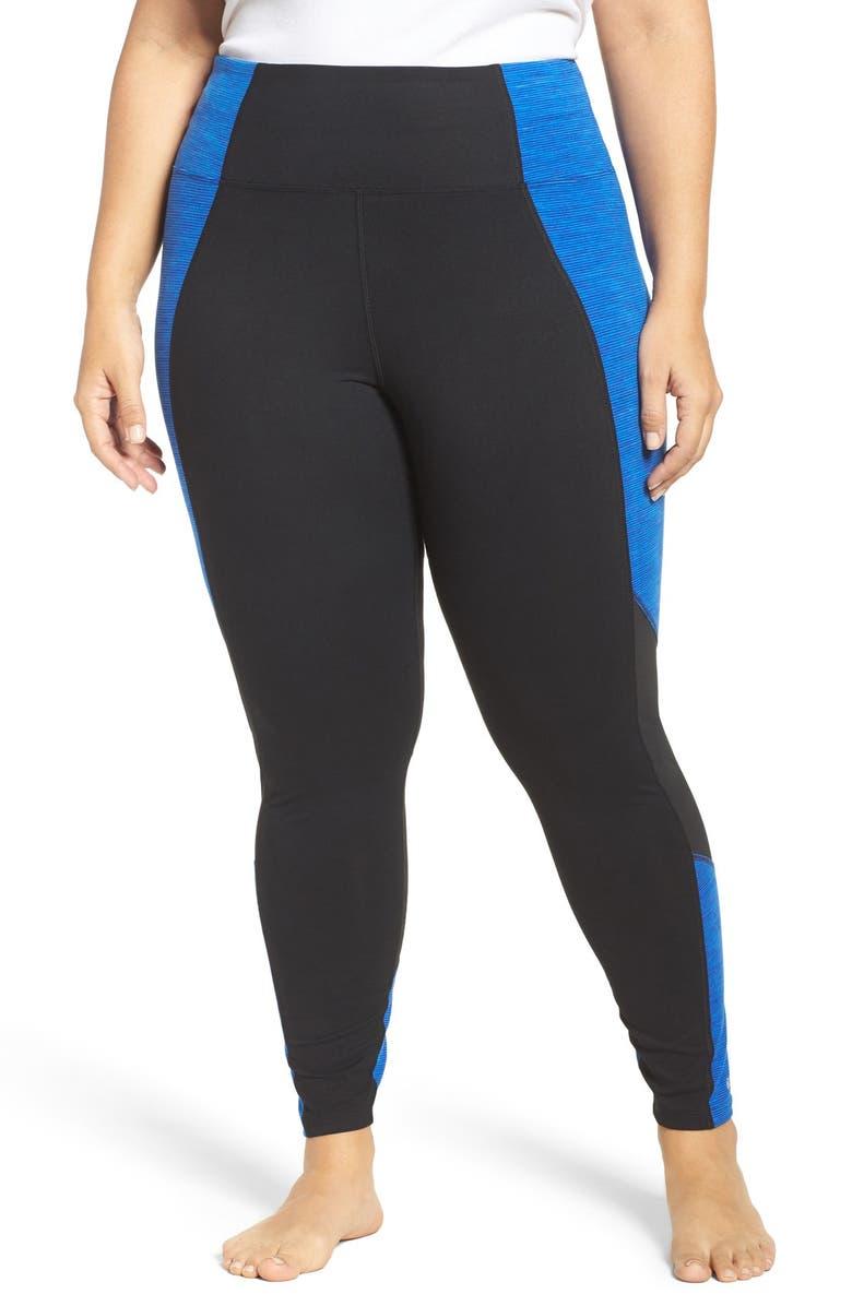 MARIKA CURVES Xtreme Colorblock Leggings, Main, color, 421
