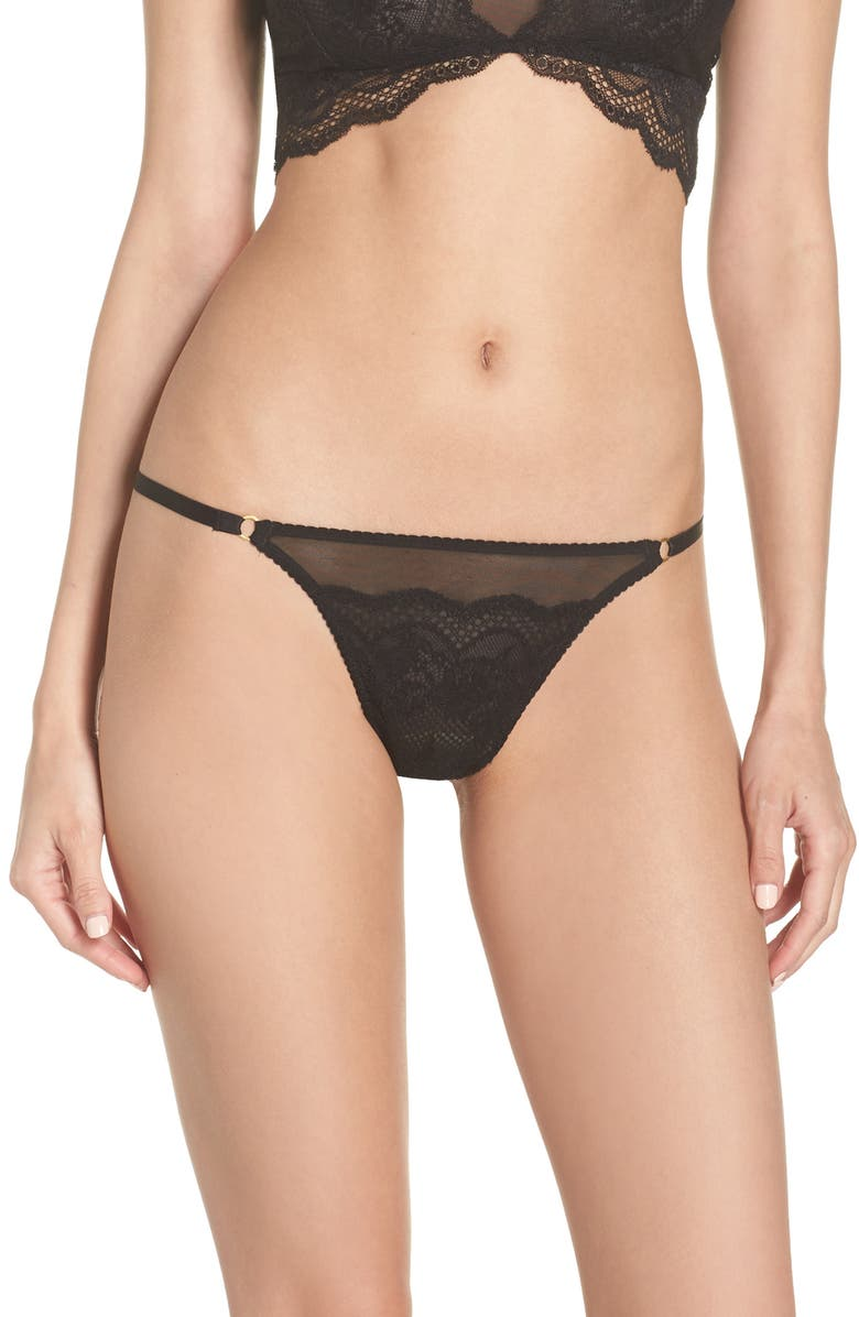 CHELSEA28 Sweetest Thing Lace Thong, Main, color, 001