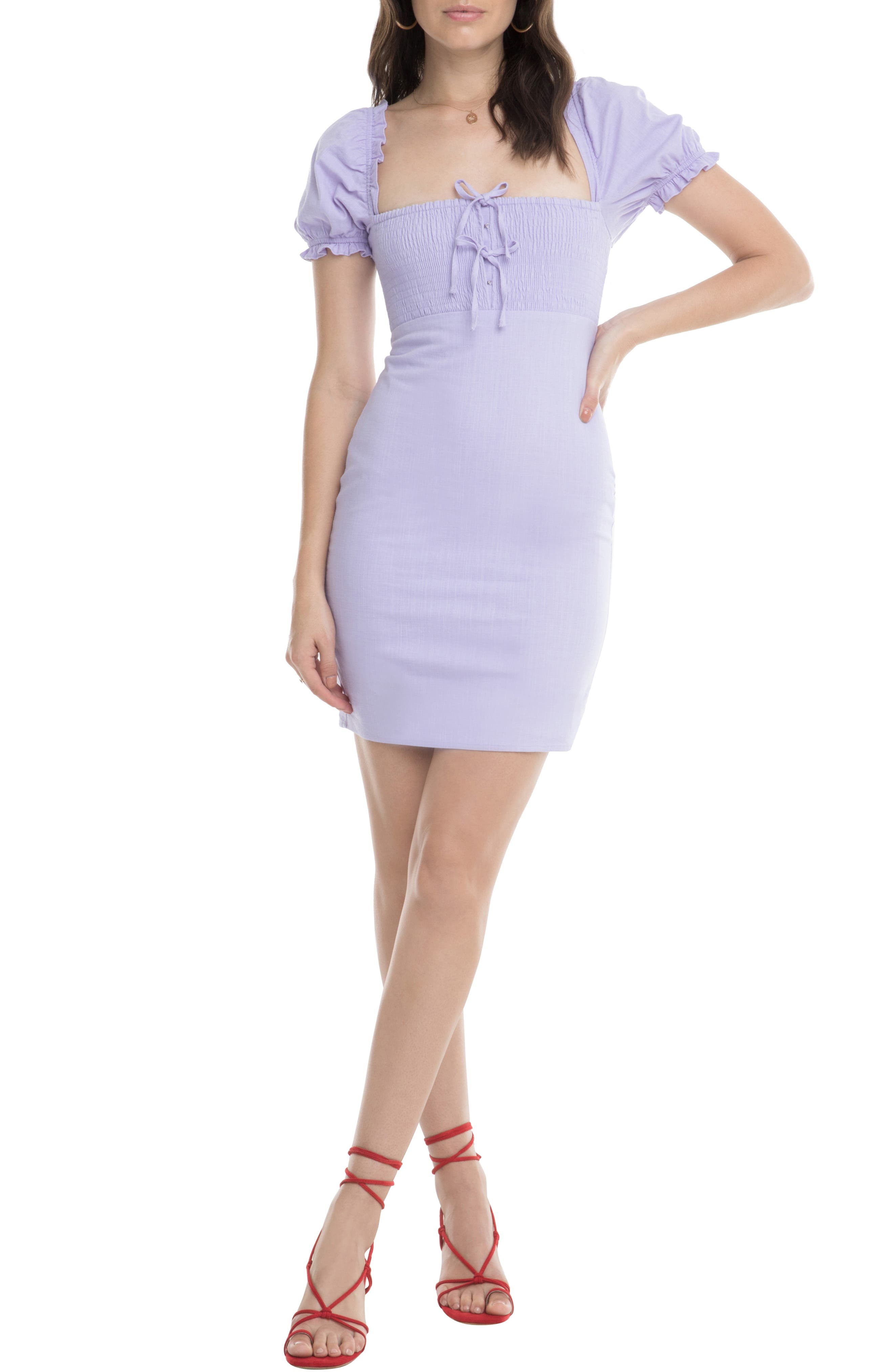 Astr The Label Bea Square Neck Minidress