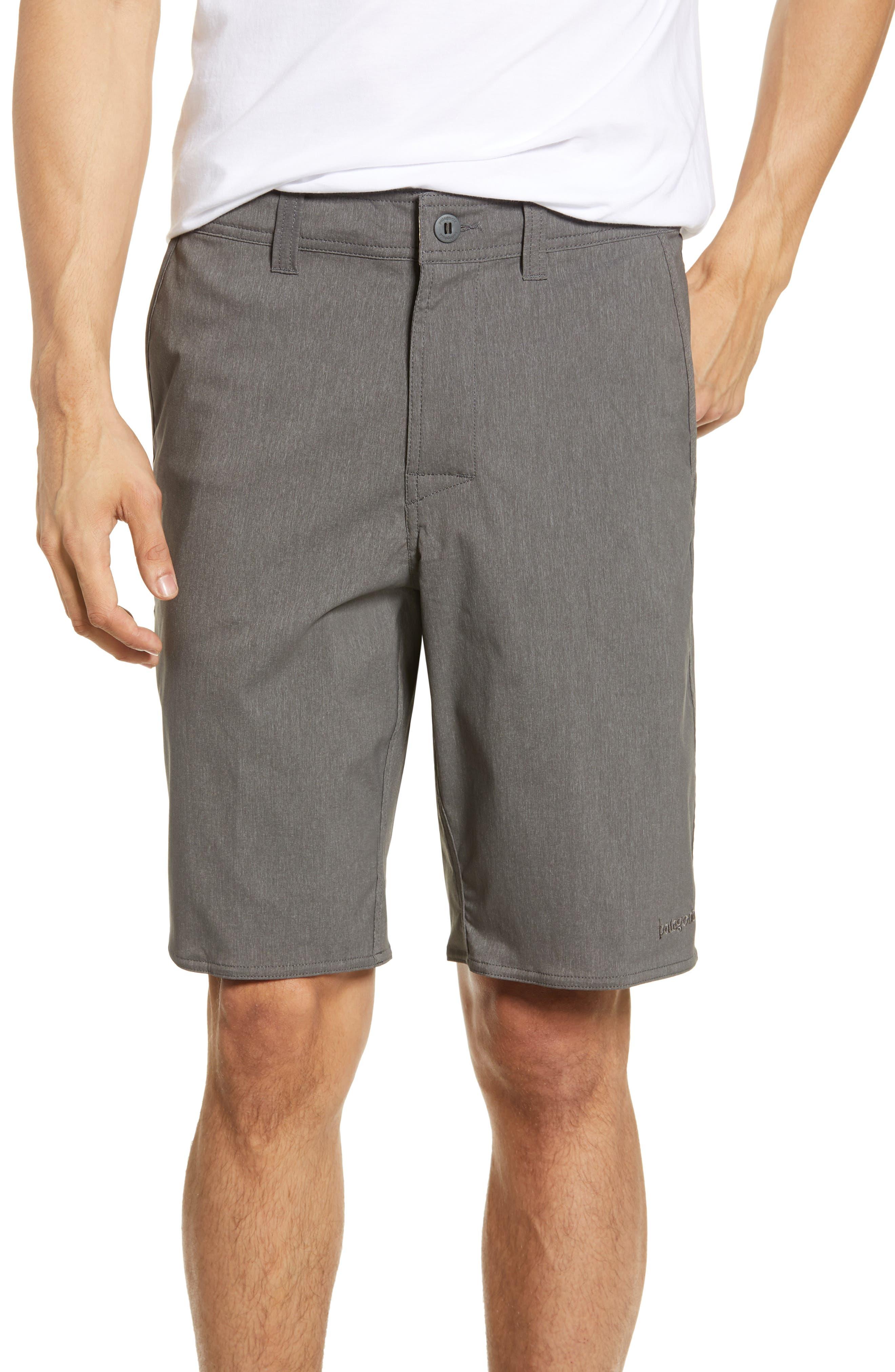 Patagonia Stretch Wavefarer Walking Shorts, Grey