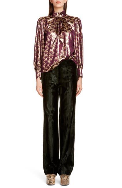 Image of DRIES VAN NOTEN Coxe Floral Handkerchief Hem Top