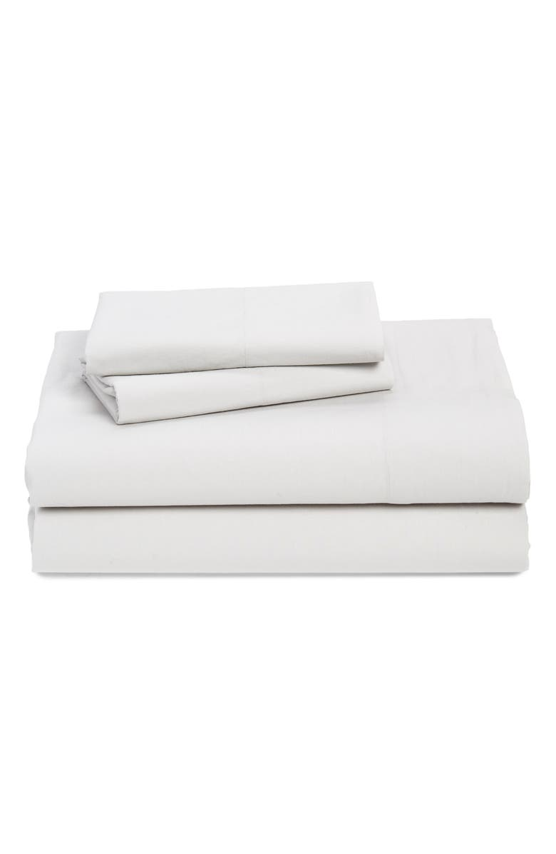 NORDSTROM at Home Cotton Percale Sheet Set, Main, color, GREY LUNAR