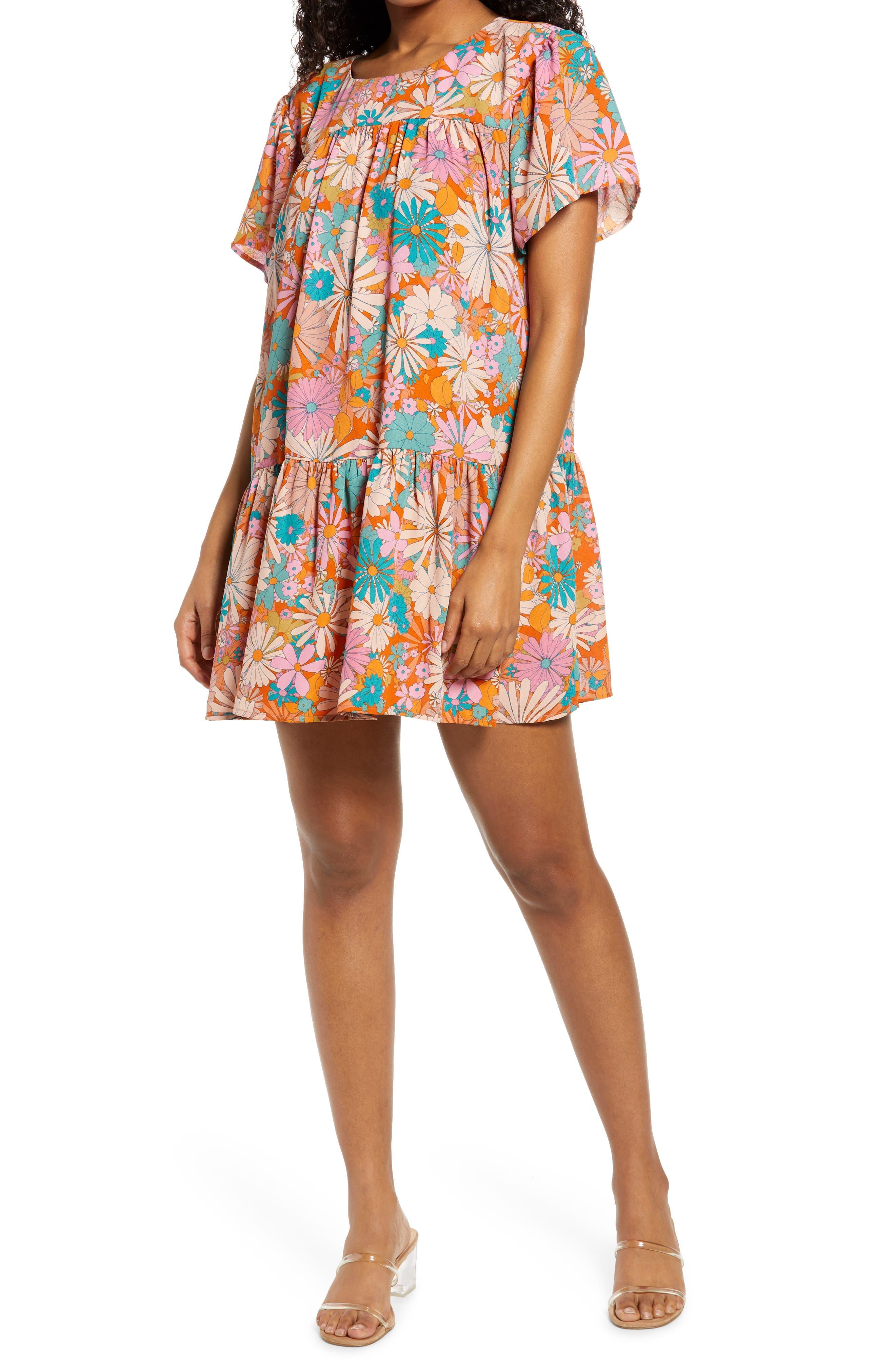 In Retrospect Floral Shift Dress