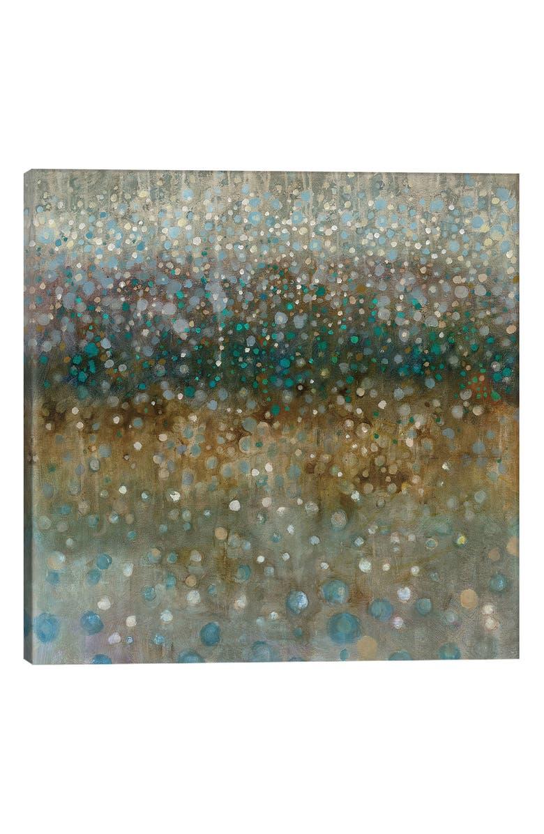 ICANVAS Abstract Rain by Danhui Nai Giclée Print Canvas Art, Main, color, GREEN