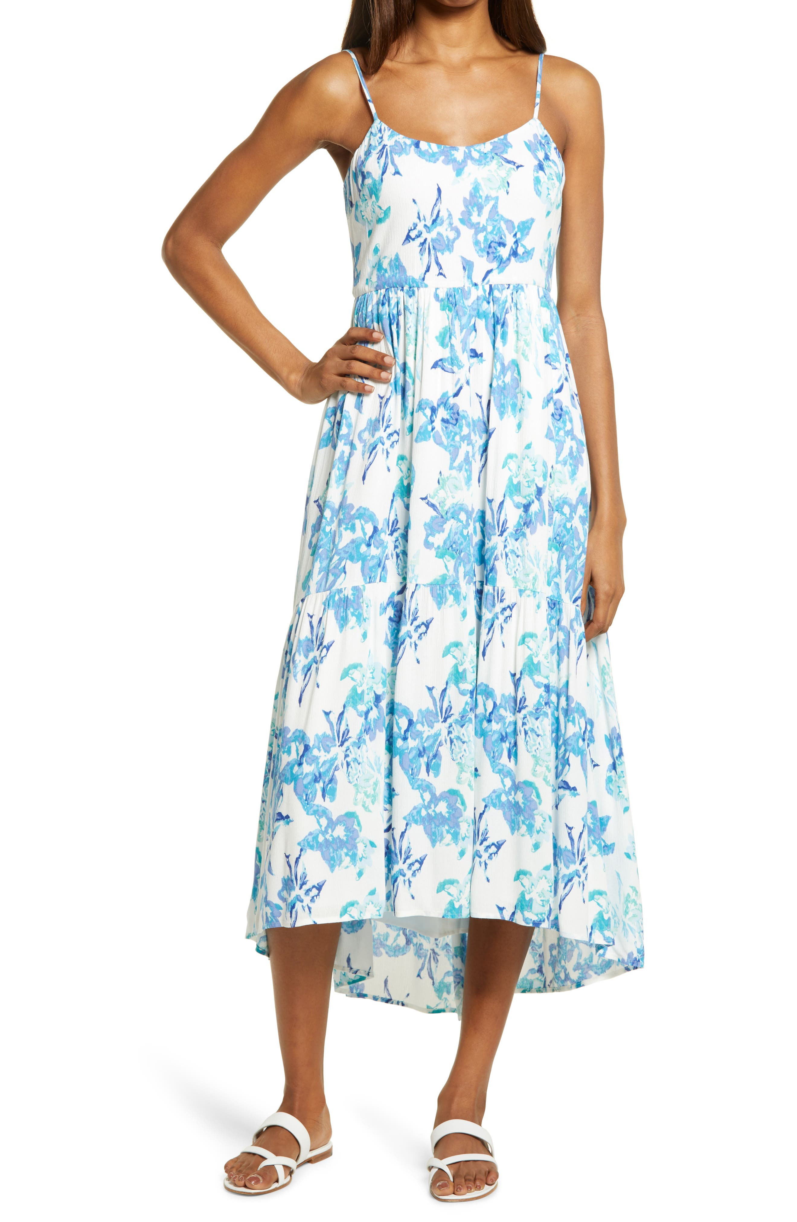 Floral High/low Tiered Sundress