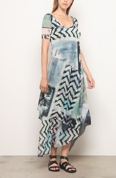 Floral & Chevron Print Asymmetrical Maxi Dress, video thumbnail