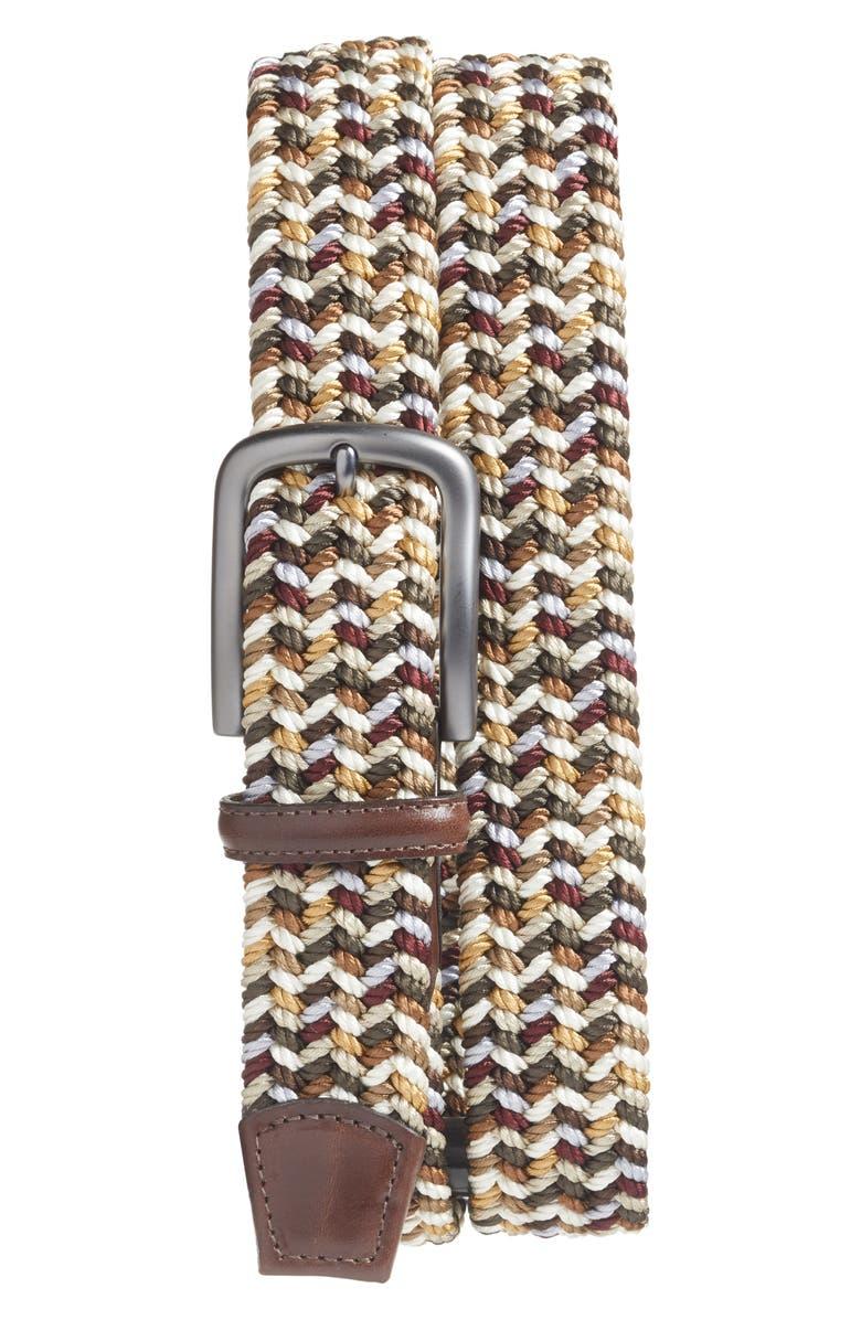 TORINO Woven Belt, Main, color, BROWN MULTICOLOR
