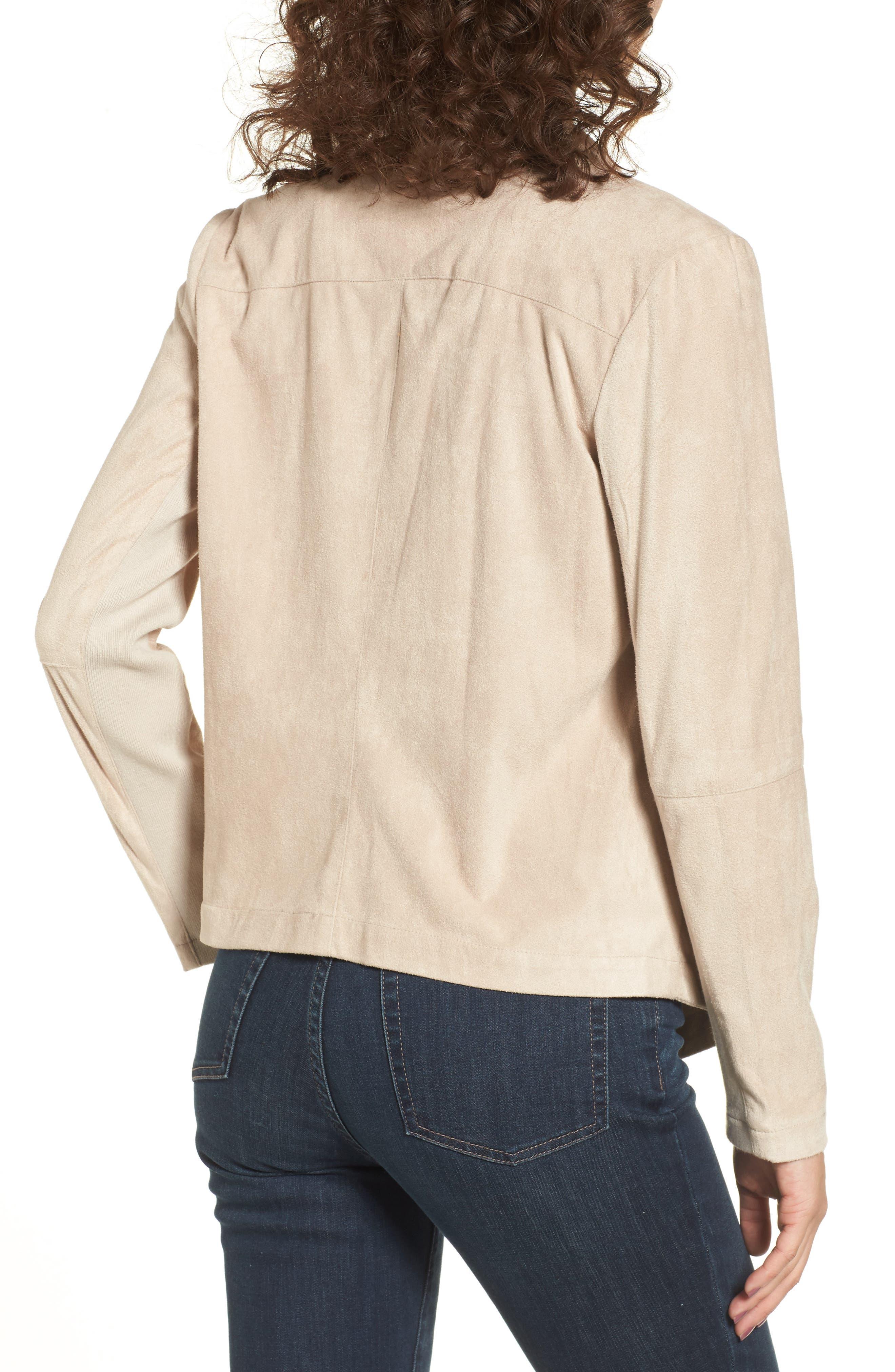 ,                             Nicholson Faux Suede Drape Front Jacket,                             Alternate thumbnail 65, color,                             905